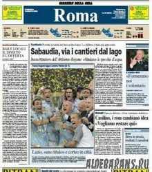 Corriere Della Sera Roma  ( 09 08 2009 )